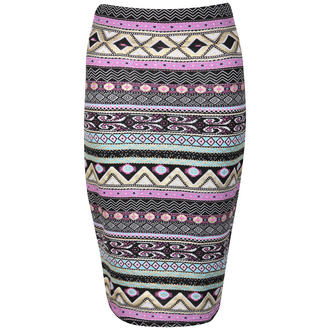 View Item Aztec Print Pencil Skirt